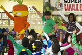 First Lady Busts a Move With Giant Dancing Vegetables
