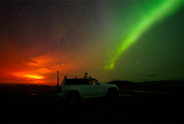 Volcano eruption makes for amazing Northern Lights display