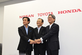 Toyota, Nissan and Honda to back hydrogen fuel cell infrastructure