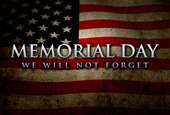 Memorial Day Holiday Shipping Notice