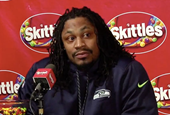 Marshawn Lynch Finally Talks ... in Funny, Weird Ads for Skittles and Progressive