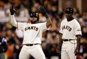 Broken image for Giants steam-roll Royals to level baseball World Series