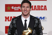 Lionel Messi Accepted A Big Soccer Award While Wearing A Flower Suit