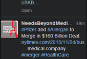 Pfizer-Allergan deal elicits market speculation—and some humor