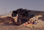 Baja champ blazes trail through Ensenada with his Monster trophy truck