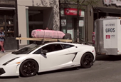 Lamborghini Gallardo ready to tow your Home Depot load