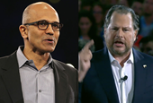 Microsoft and Salesforce have made love and war for 15 years. Here's a timeline of the rocky history