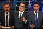Stephen Colbert, Seth Meyers, and Trevor Noah ponder if an avocado shortage thwarts Trump's border p