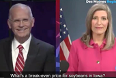 Iowa GOP Sen. Joni Ernst stumbles over soybean question in debate against Democratic challenger