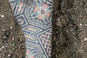 Perfectly Preserved 1,700-Year-Old Roman Mosaic Floor Found Under Vineyard in Italy