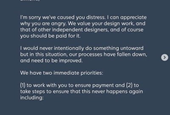 Translating an Apology to a Designer For Stealing Their Work