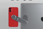 """Swiss """"Tech Minimalist"""" Design: Edge Physically Connects Your Phone and Accessories to Your Laptop"""