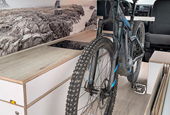 German Camper Conversion System Fits Bicycle, Kitchen, Queen-Sized Murphy Bed