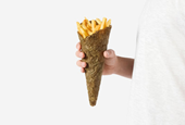 Flotspotting: Paolo Stefano Gentile's Ecological French Fries Packaging, Made from Potato Peels