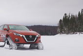 Beyond Snow Tires: Nissan's AWD Altima-te Features Tank Treads