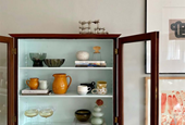 on trend: floating display cabinets.