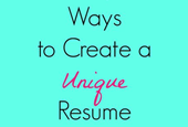 5 Simple Ways to Create a Unique Resume