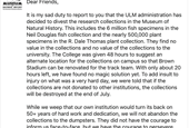 U Louisiana Monroe getting rid of two major natural history collections to make way for a sports fie