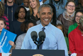 WATCH:  Obama Tells Protesters 'Get Your Own Rally'