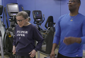 Justice Ruth Bader Ginsburg, an unlikely fitness role model