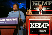 Georgia's Kemp resigns as secretary of state with governor's race still undecided