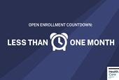 Less than one month 'til 2020 Marketplace Open Enrollment!