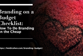 Branding on a Budget Checklist: How To Do Branding On The Cheap
