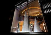 Crystallized Christmas tree at MIKIMOTO Ginza Main Store by we+, Tokyo – Japan