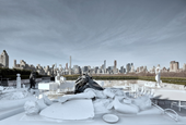 Sculpture installation by Adrián Villar Rojas on the roof of the Metropolitan Museum of Art, New Yor