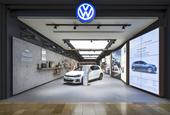 Volkswagen showroom by Dalziel & Pow, Bullring – UK