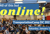 We're taking TransportationCamp online! Join us on Saturday, January 16th