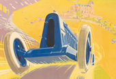Seven awesome vintage car posters recently sold at auction
