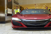 It's not easy to park an Acura NSX inside a casino