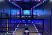 Entrepreneur Converts 53-Foot Semi-Truck Trailer Into Mobile Bowling Alley