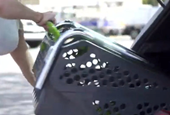 Bag-Free Groceries: A Folding Shopping Cart You Bring Right to Your Kitchen