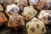 Gaming Dice Made from Human Bones